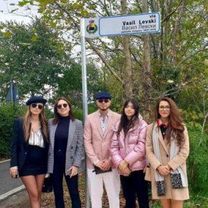 """Ренета Камберова на официална церемония по откриване на улица в Италия с името """"Васил Левски"""""""